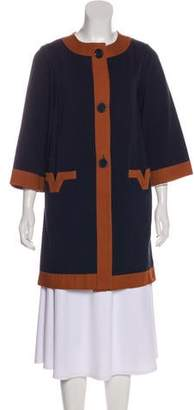 Diane von Furstenberg Three-Quarter Sleeve Short Coat