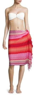 Missoni Chevron Fringed Cotton Pareo