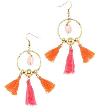 Nakamol Design Tiny Tassel Hoop Earrings