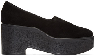 Robert Clergerie Black Suede Xalo Loafers $575 thestylecure.com