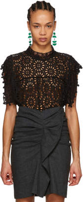 Isabel Marant Black Kery Broderie Anglaise Blouse