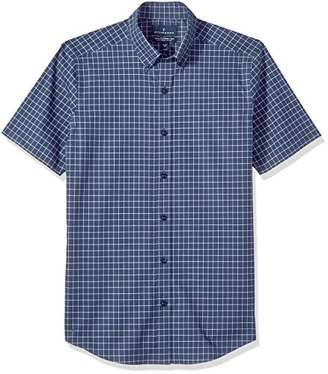 Buttoned Down Men's Tailored Fit Stretch Button-Collar Short-Sleeve Non-Iron Shirt