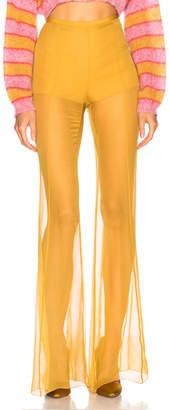 Alberta Ferretti Sheer Wide Leg Pants