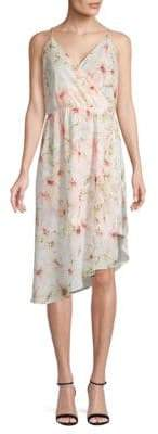 Haute Hippie Asymmetric Floral Dress