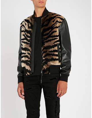 Alexander McQueen Tiger-striped cotton-blend bomber jacket