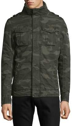 Jet Lag Jetlag Men's Woven Military Jacket