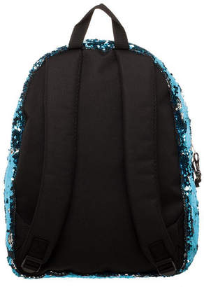 Novelty Accessories Blue & Silver Reverse Sequins Backpack