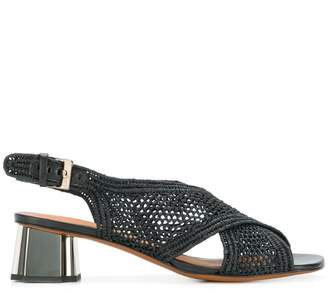 Clergerie woven crossover strap sandals