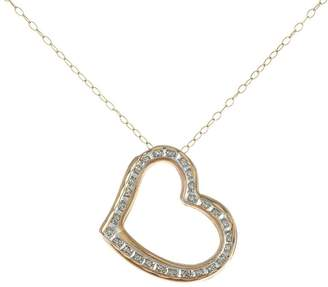 Diamond Fascination Floating Heart Pendant withChain, 14K