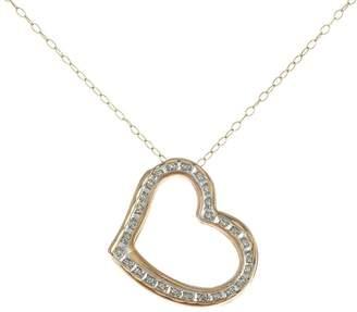 Diamond Fascination Floating Heart Pendant withChain, 14K