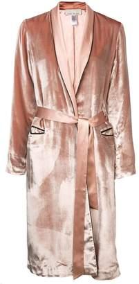 Fleur Du Mal velvet smoking robe