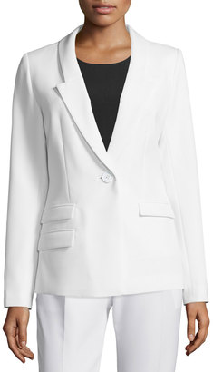 Milly Slim-Fit One-Button Blazer, White $450 thestylecure.com