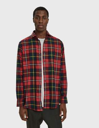 Polo Ralph Lauren Brushed Flannel Button Up Shirt in Red