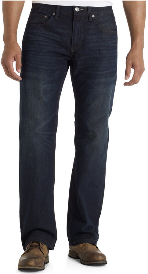 Levi's Big & Tall 559 Relaxed Straight-Fit Charcoal Oil Jeans