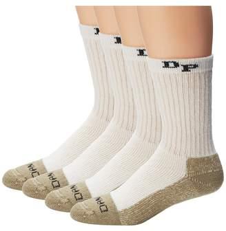 Dan Post Work Outdoor Socks Mid Calf Heavyweight Steel Toe 4 pack Men's Crew Cut Socks Shoes
