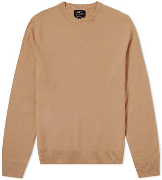A.P.C. Han Boiled Wool Crew Knit