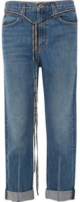 Proenza Schouler Pswl Canvas-trimmed Jeans - Mid denim
