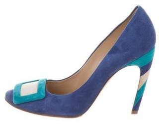 Roger Vivier Buckle Round-Toe Pumps