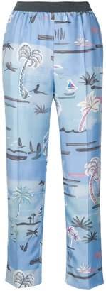 Agnona palm tree trousers
