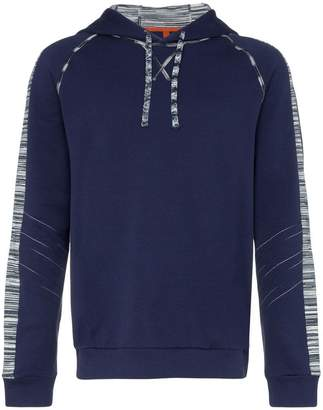 Missoni drawstring stripe trim hooded jumper