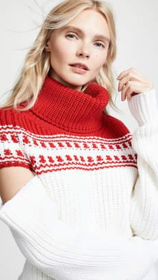 Monse Slashed Sleeve Fair Isle Sweater