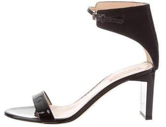 Reed Krakoff Patent Leather Ankle Strap Sandals
