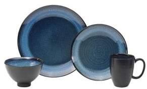 Oneida 16-Piece Adriatic Blue Dinnerware Set