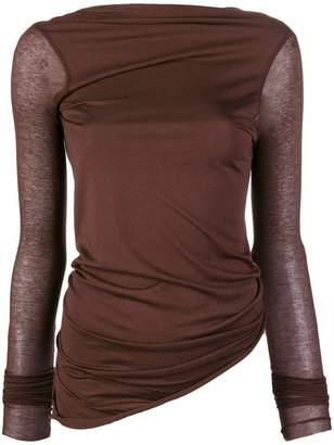 Rick Owens Lilies asymmetrical hem knit top