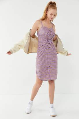 J.o.a. Knotted Checkered Dress