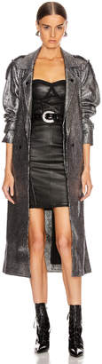RtA Andi Coat in Black Silver Tweed | FWRD