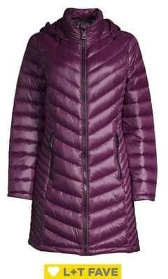 Calvin Klein Plus Long Packable Puffer Coat
