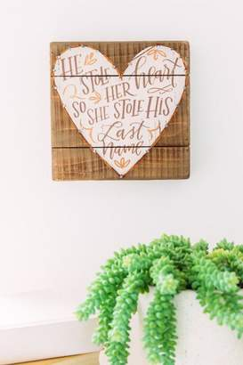 Primitives By Kathy, Inc. He Stole Her Heart Sequin String Art