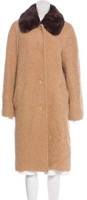 Isaac Mizrahi Long Button-Up Coat