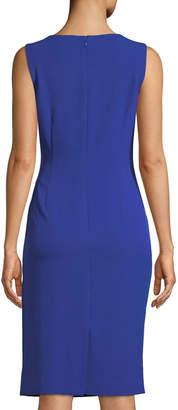 Tahari ASL Sleeveless Ruched-Waist Dress