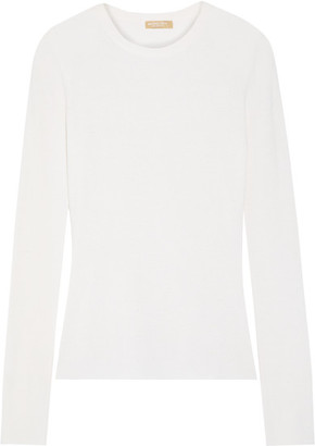 Michael Kors Collection - Cashmere Sweater - Off-white $595 thestylecure.com