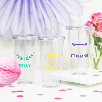 Peach Blossom Personalised Name Drinks Tumbler