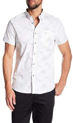 Kenneth Cole New York Galaxy Print Short Sleeve Regular Fit Shirt