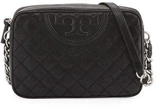 Tory Burch Fleming Distressed Leather Crossbody Camera Bag