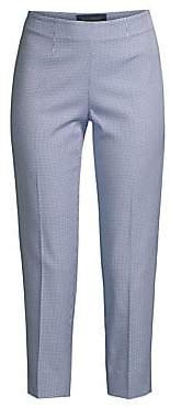 Piazza Sempione Women's Audrey Checked Stretch Cropped Pants