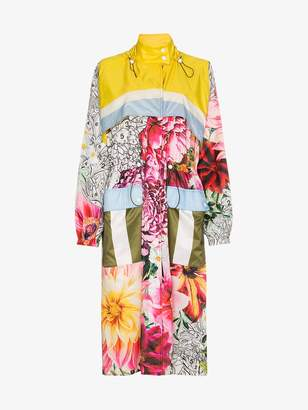 Mary Katrantzou Speck paint by numbers floral coat