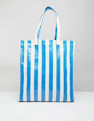 Stradivarius Bold Stripe Shopper