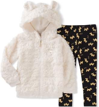 Juicy Couture Big Girls' Faux Fur Jacket Pant Sets