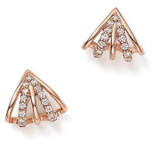 Bloomingdale's Diamond Multi-Row Earrings in 14K Rose Gold, 0.25 ct. t.w. - 100% Exclusive