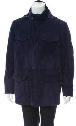 Canali Suede Textured Coat
