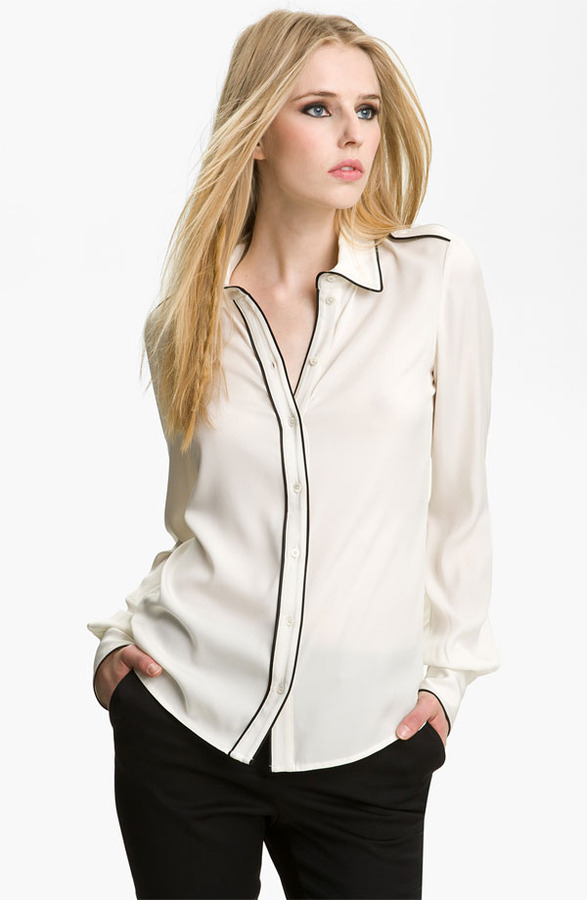 Rachel Zoe 'Lara' Stretch Silk Blouse