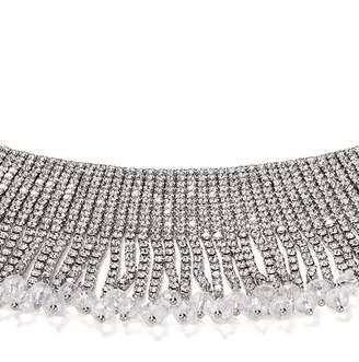 "Aqua Fringe Crystal Choker Necklace, 11"" - 100% Exclusive"