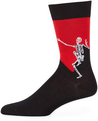 Alexander McQueen Men's Dancing Skeleton Cotton Socks