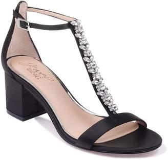 Badgley Mischka Metallic Block Heel Sandals