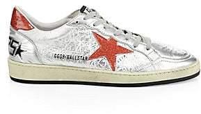 Golden Goose Men's Men's Cracked Leather Ball Star Sneakers
