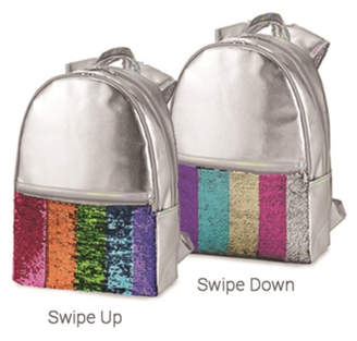 Top Trenz Faux Leather Reversible Sequin Backpack